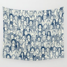 WOMEN OF THE WORLD BLUE Wall Tapestry