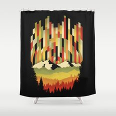 Sunset in Vertical Shower Curtain
