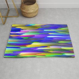 Colorful digital art splashing G394 Rug
