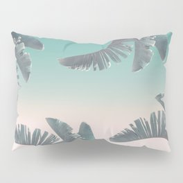 Tropical Palm Leaves In Pastel Light Pillow Sham
