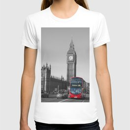 Big Ben and the bus - colour popped T-shirt