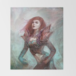 Diamond in the rough - Fantasy magic girl character concept Throw Blanket