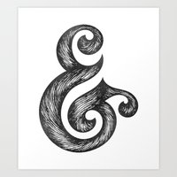 ampersand Art Prints featuring Ampersand by Norman Duenas
