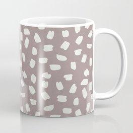Simply Ink Splotch Lunar Gray on Red Earth Coffee Mug