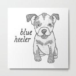 Dog Breeds: Blue Heeler/Australian Cattle Dog Metal Print