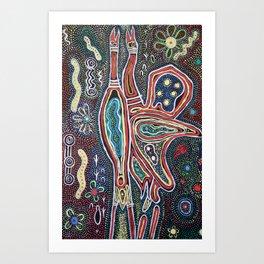 DANCING BROLGAS Art Print