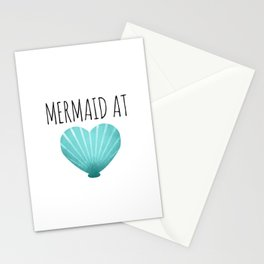 Mermaid At Heart  |  Teal Stationery Cards