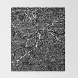 London Black Map Throw Blanket