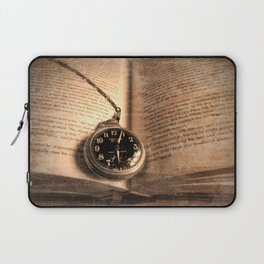 Rustic Story Time Still life Book Watch Modern Cottage Chic Art A551 Laptop Sleeve