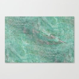 Mossy Woods Green Marble Canvas Print