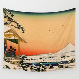 Snow at Koishikawa - Vintage Japanese Art Wall Tapestry