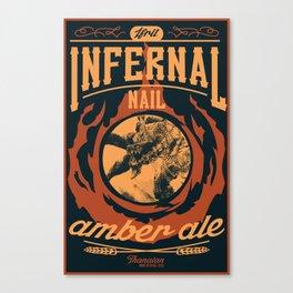 Infernal Nail Amber Ale   FFXIV Canvas Print
