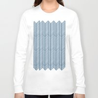 herringbone Long Sleeve T-shirts featuring Herringbone Navy by Project M