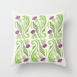 Thistles - Color Pattern Throw Pillow