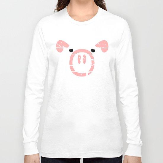 Cute Pink Pig face Long Sleeve T-shirt