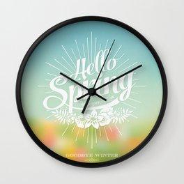 Spring - The Season of Love Wall Clock