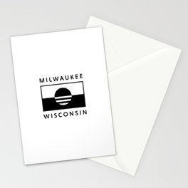Milwaukee Wisconsin - White - People's Flag of Milwaukee Stationery Cards