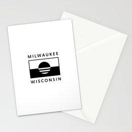 Milwaukee Wisconsin - White - People's Flag of Milwaukee Stationery Cards