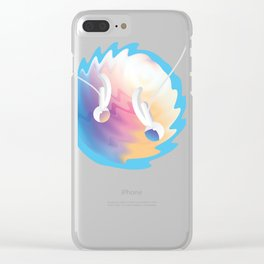 Abstract Space Art T-Shirt Clear iPhone Case