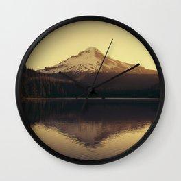Sunrise at Trillium Lake - Oregon Adventure Wall Clock