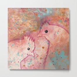 Two Chickens - Bakaark! Metal Print