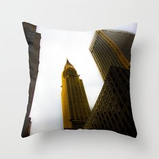 Lighting the Chrysler Building Throw Pillow
