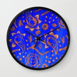 Blue Series_Block Print III Wall Clock