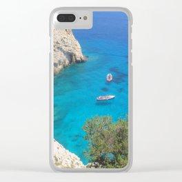greek sea Clear iPhone Case