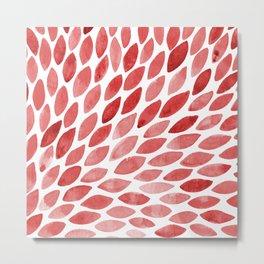 Watercolor brush strokes burst - red Metal Print