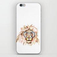scuba iPhone & iPod Skins featuring Scuba Lion by Kristen Williams