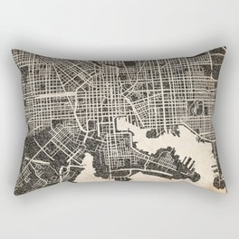 BALTIMORE map Maryland black ink Rectangular Pillow