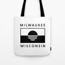 Milwaukee Wisconsin - White - People's Flag of Milwaukee Tote Bag