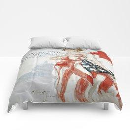 Vintage poster - American Red Cross Comforters