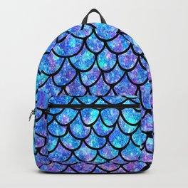 Purples & Blues Mermaid scales Backpack