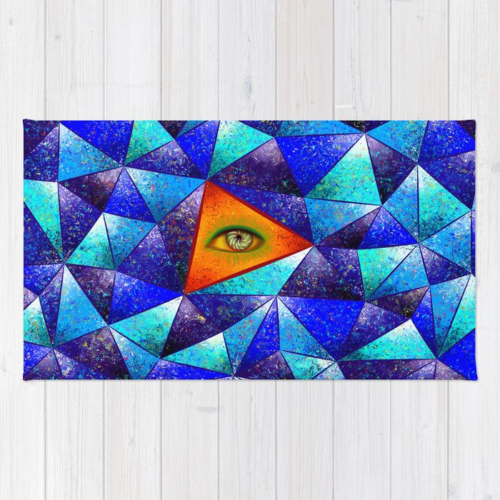 Tethrous V1 - watching triangle Rug