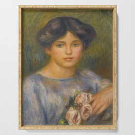 """Auguste Renoir """"Jeune fille aux roses (Young girl with flowers)"""" Serving Tray"""