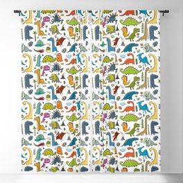 Funny dinos collection Blackout Curtain