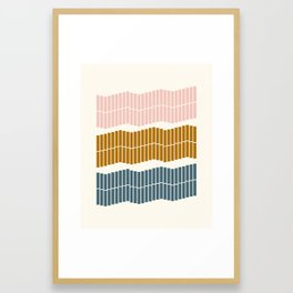Geometric Piano Keys Framed Art Print