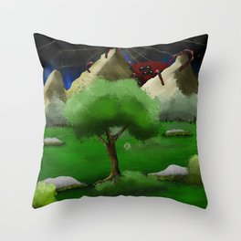 Coming Around the Mountain Throw Pillow