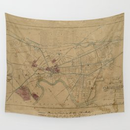 Map of Cambridge 1861 Wall Tapestry