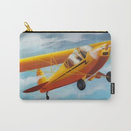 Yellow Plane, Blue Sky Carry-All Pouch