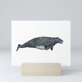 Steller's sea cow Mini Art Print