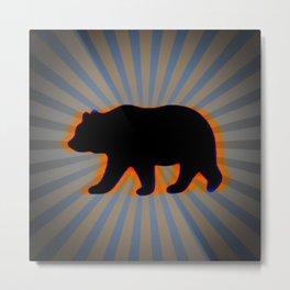 trippy bear Metal Print