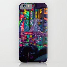 Tokyo Nights / Shibuya Neon Noir / Rain / Liam Wong iPhone Case