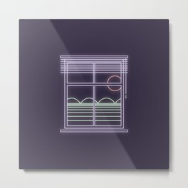 Neon window Metal Print
