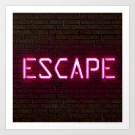 ESCAPE   Neon Art Print