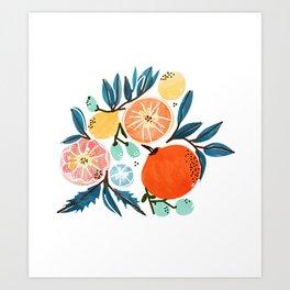 Fruit Shower Art Print