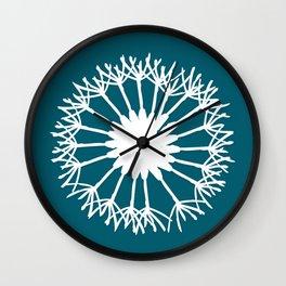 Oceanside Blue Botanical Wall Clock