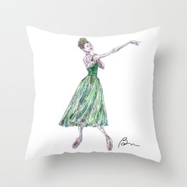 Beatriz Stix-Brunell in Emeralds, Jewels Throw Pillow