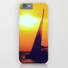 Sunset sailing - Life is better at the sea iPhone Case
